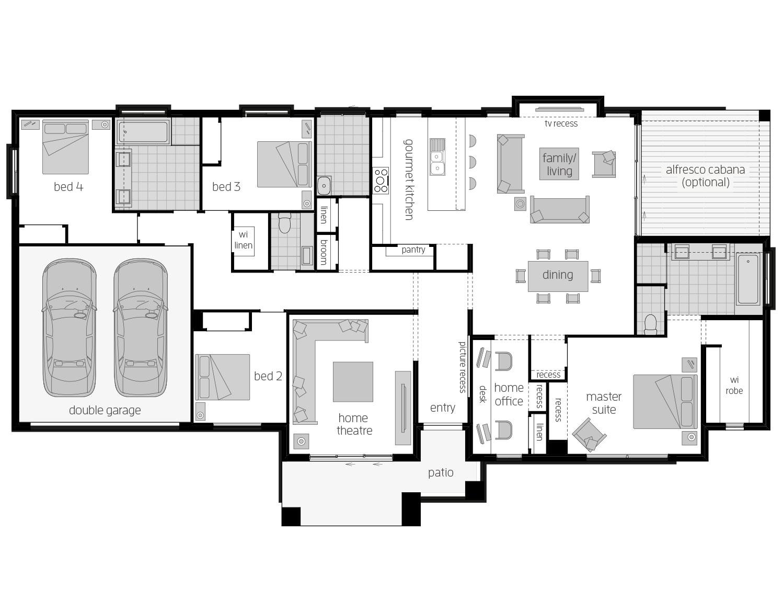 Floor Plan - Hartley - Ranch Home Design - McDonald Jones