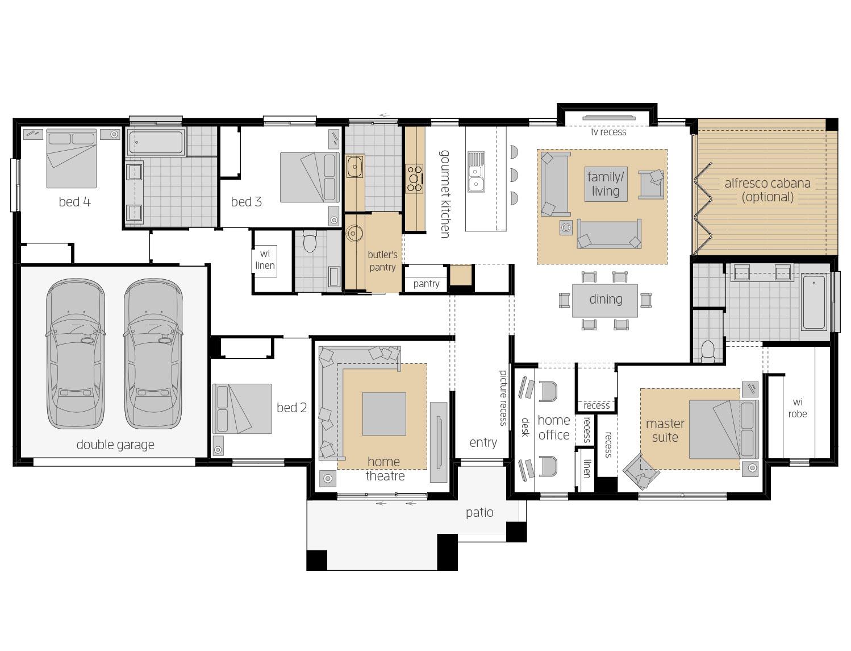 Floor Plan - Hartley - Acreage Home Design - McDonald Jones