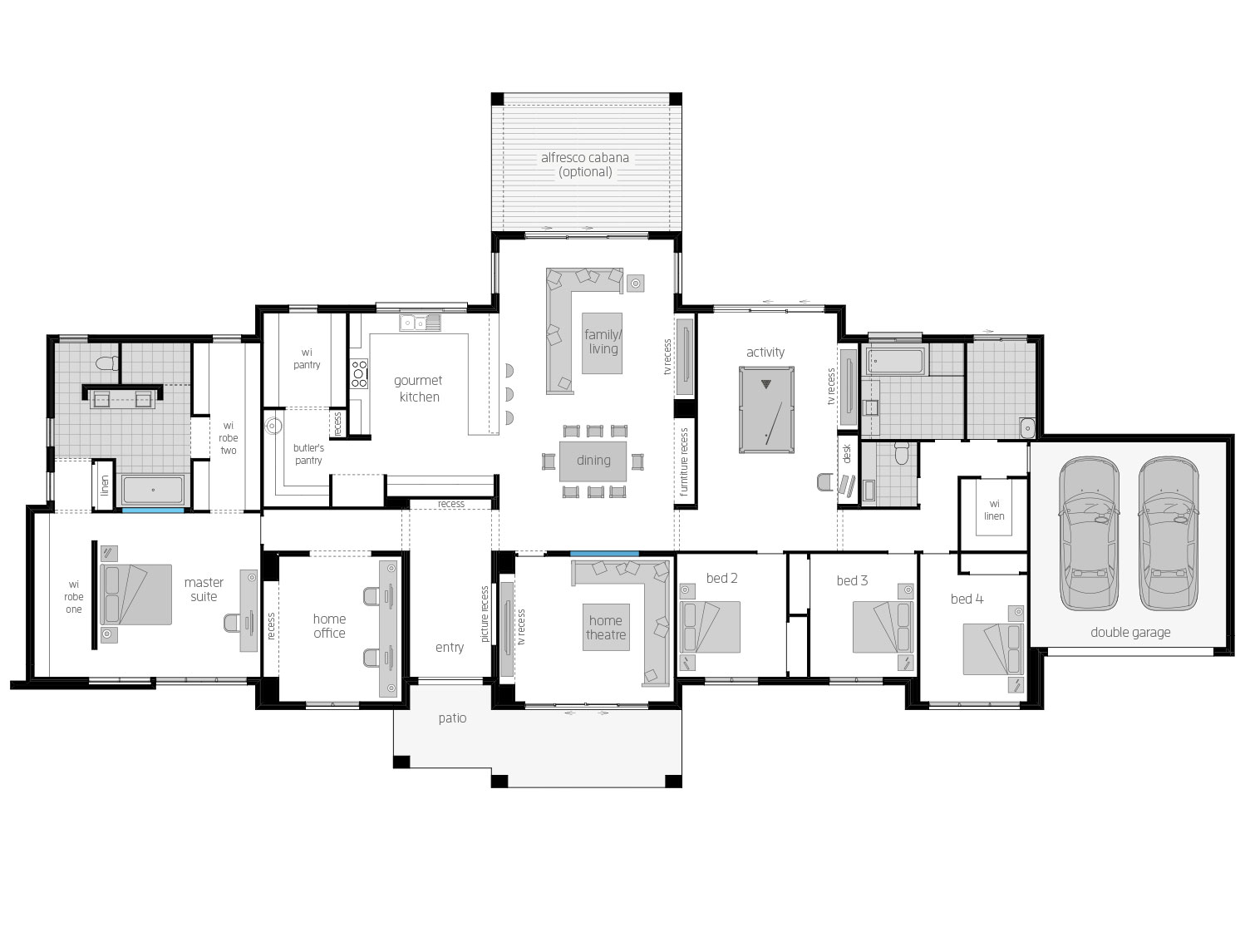 Floor Plan - Hermitage - Ranch Style Home Design - McDonald Jones