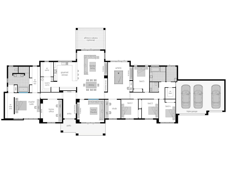 Floor Plan - Hermitage - Country Style Home Design - McDonald Jones