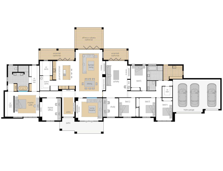 Floor Plan - Hermitage - Acreage Home Design - McDonald Jones