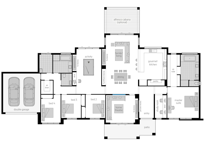Floor Plan - Hermitage - Farm Style Home Design - McDonald Jones