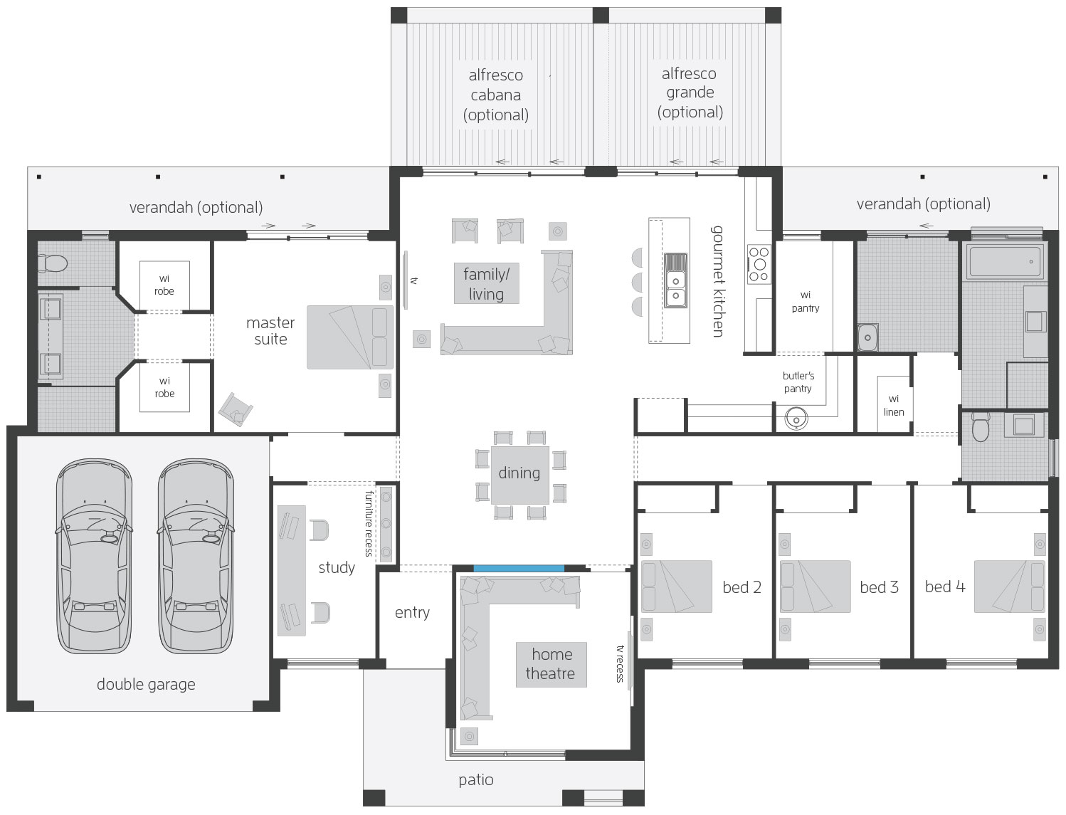 Floor Plan - Lyndurst - Acreage Home Design - McDonald Jones