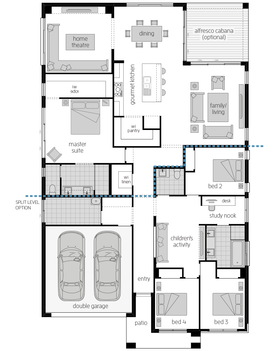 San Marino Manor 15- Single Storey Floor Plan- McDonald Jones