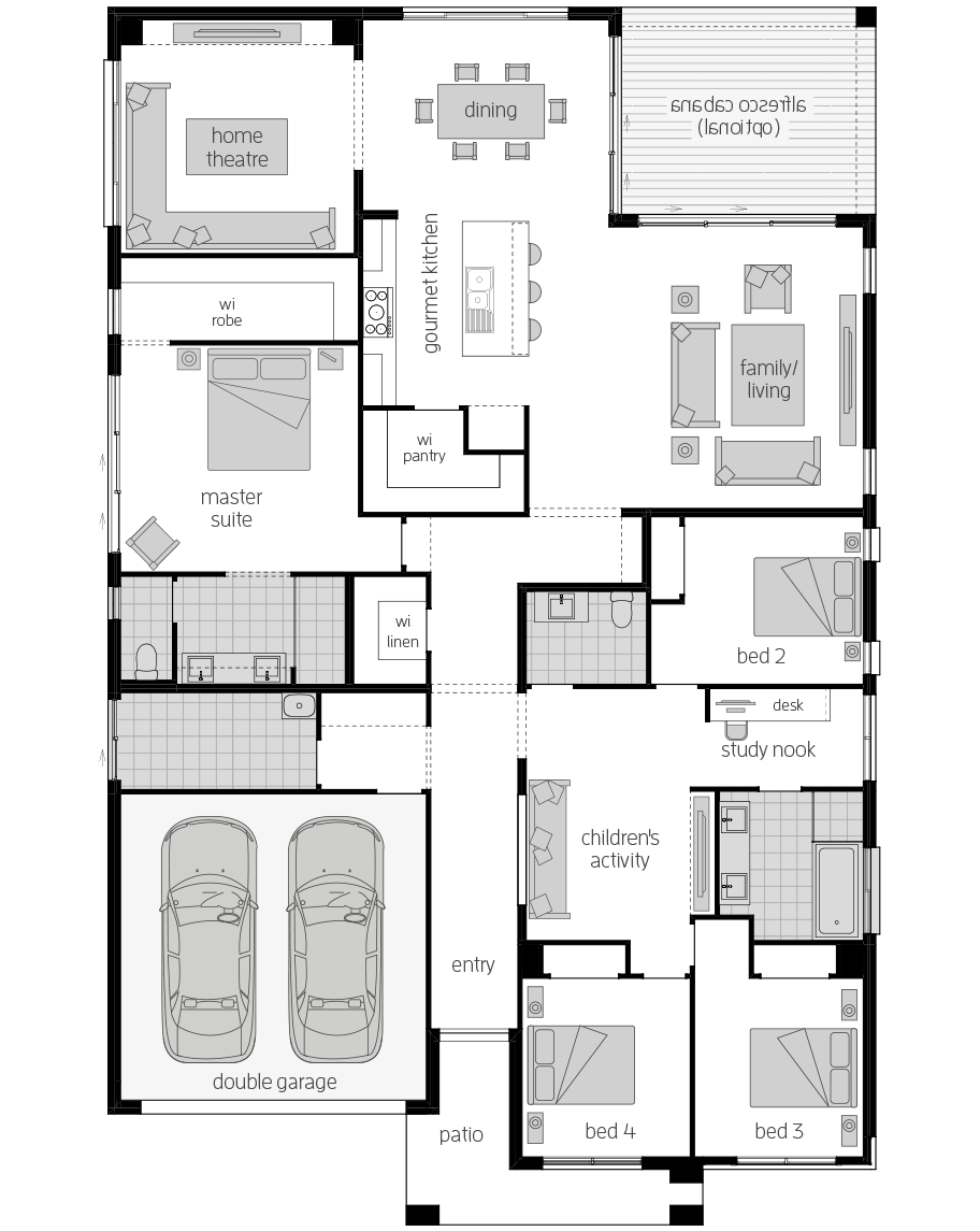 San Marino Manor 16- Single Storey Floor Plan- McDonald Jones