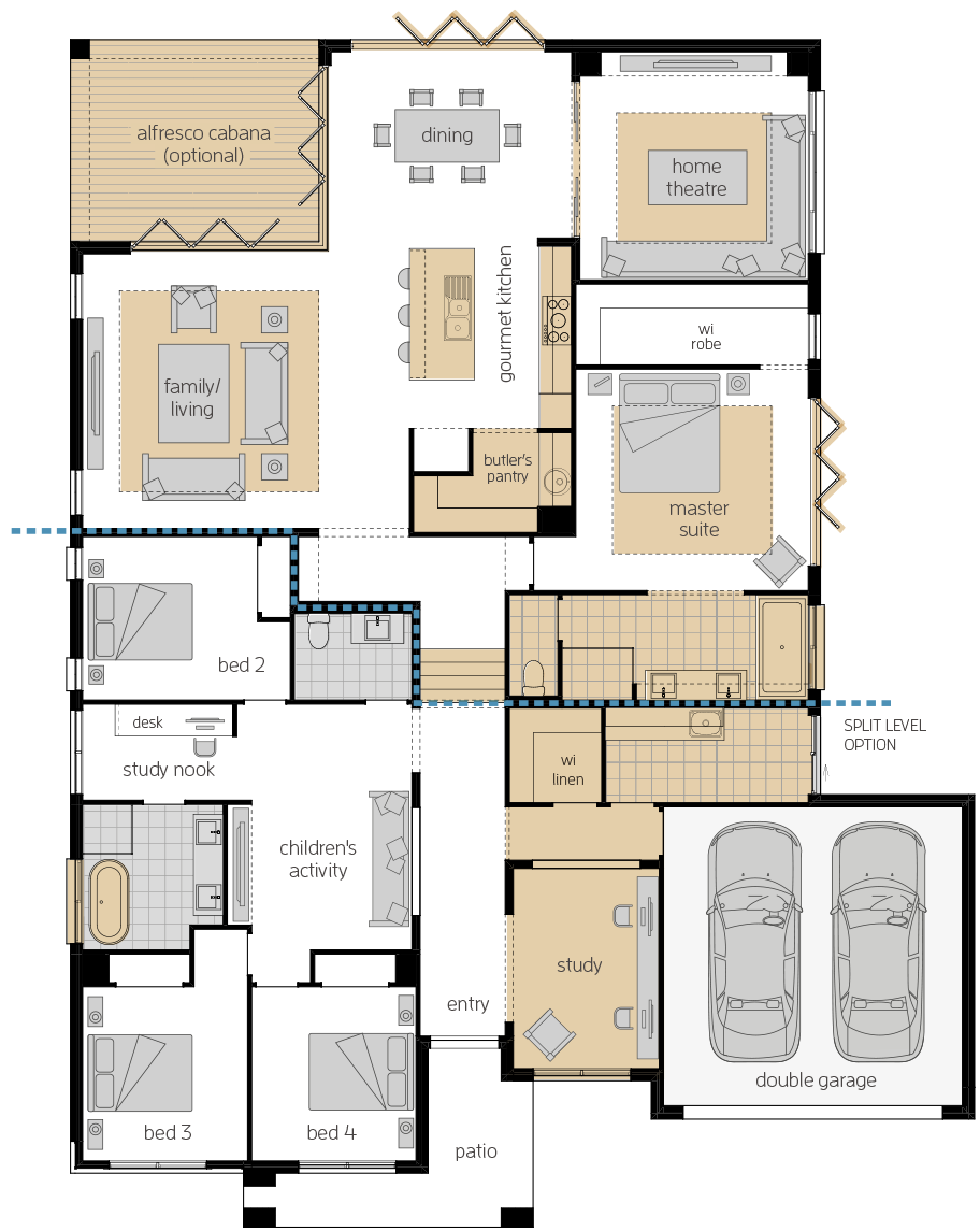 San Marino Manor 16- Single Storey Floor Plan Upgrade- McDonald Jones