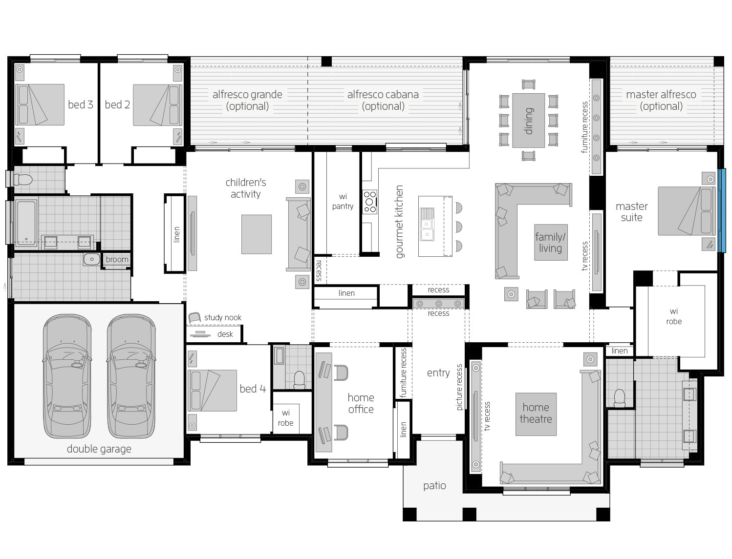 Floor Plan - Tuscany - Country Home Design - McDonald Jones