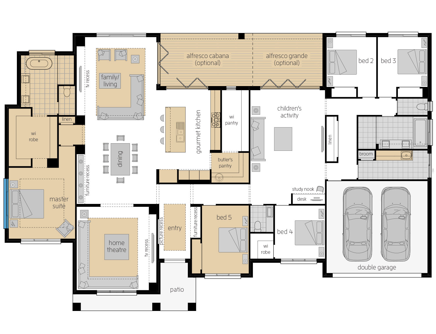 Floor Plan - Tuscany - Acreage Home Design - McDonald Jones