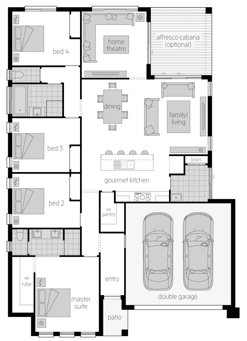 Addington- Single Storey Floor Plan- McDonald Jones