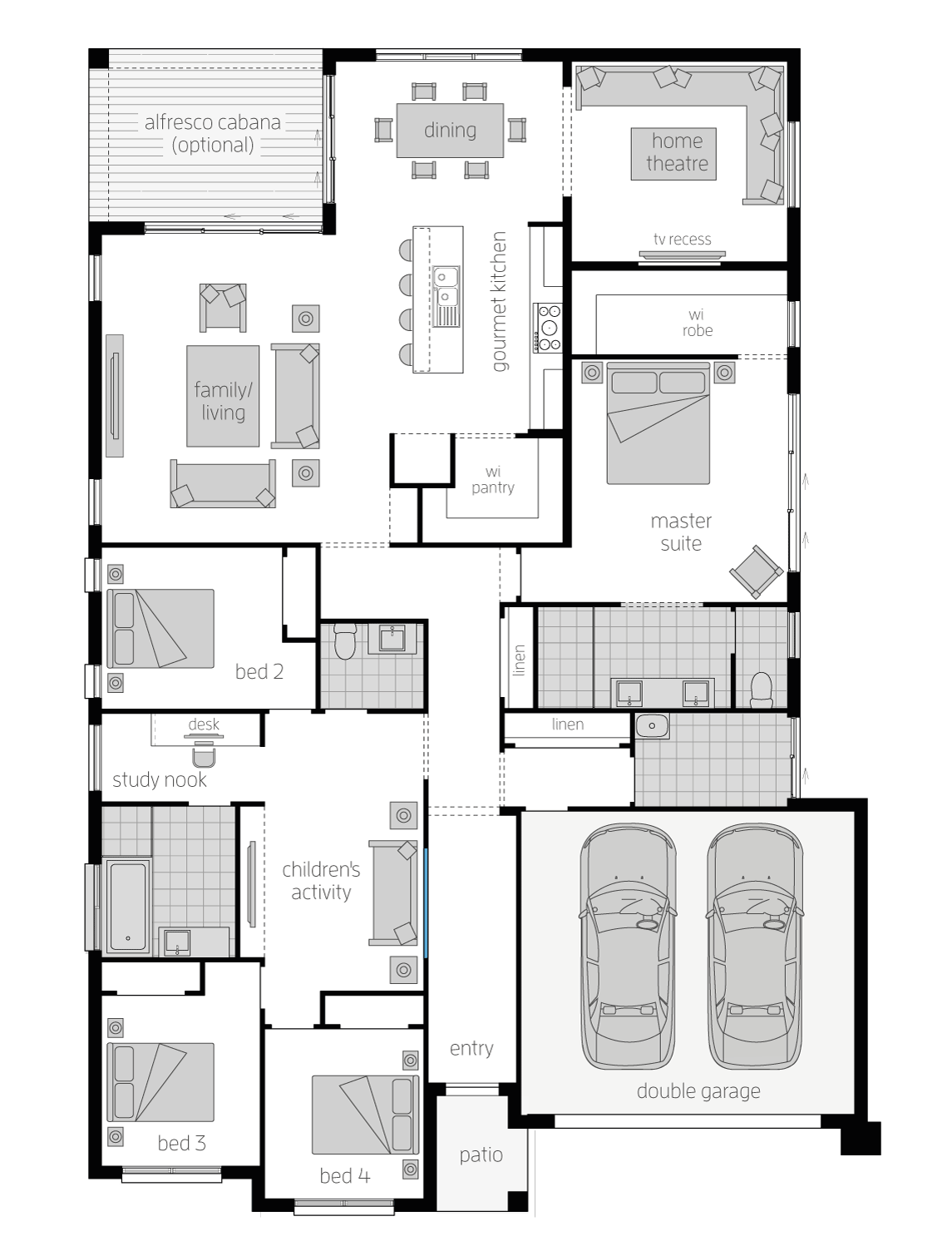 Admiral- Single Storey Floor Plan- McDonald Jones