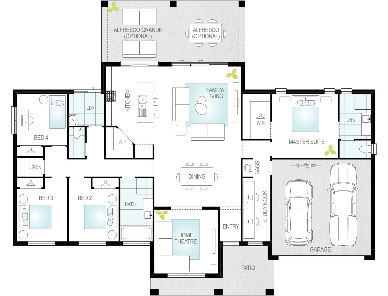 Almonte- Single Storey Floor Plan- McDonald Jones