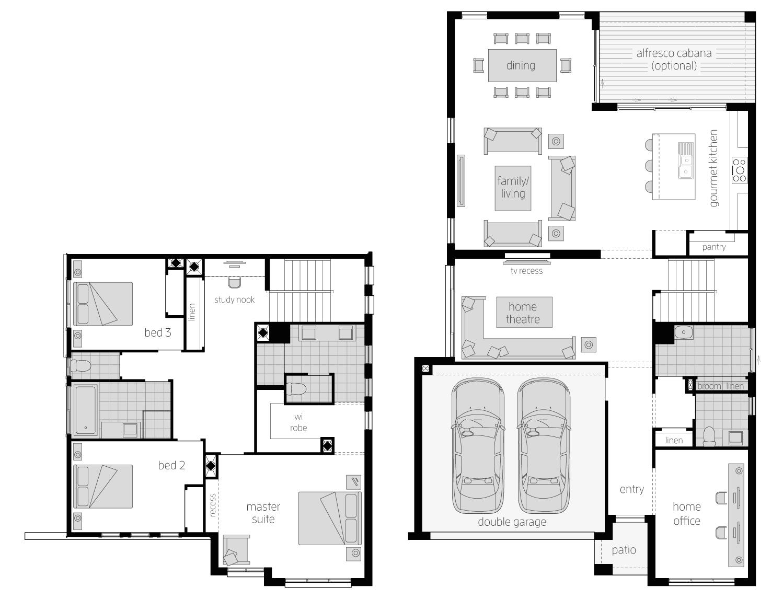 Floor Plan - Augusta31 - Two Storey Home - McDonald Jones