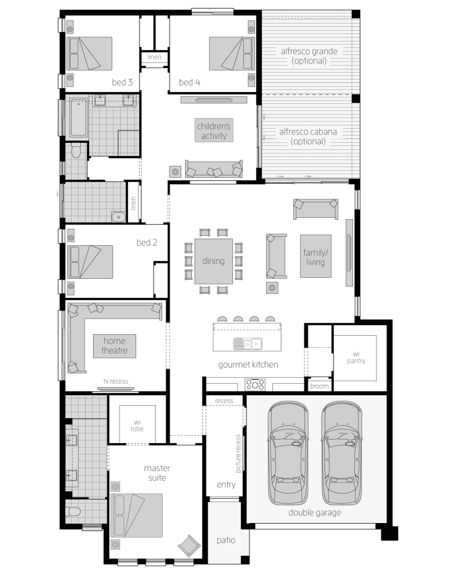 Floor Plan - Chancellor Home Design - Canberra - McDonald Jones