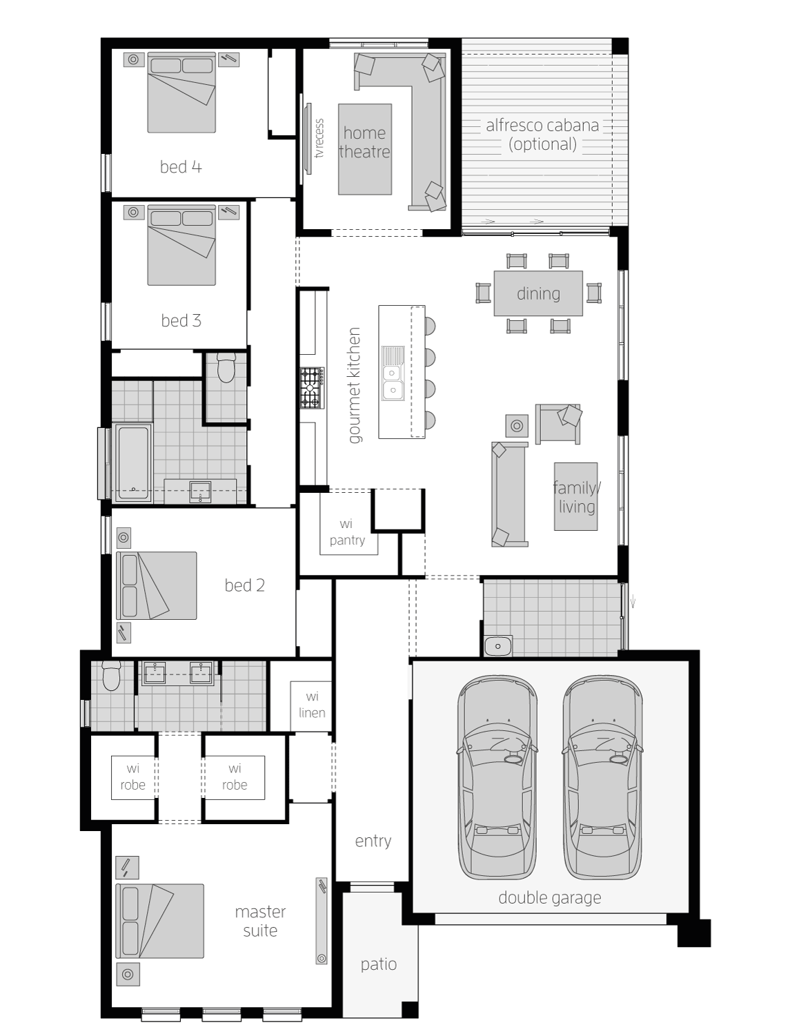 Cullen- Single Storey Floor Plan - McDonald Jones