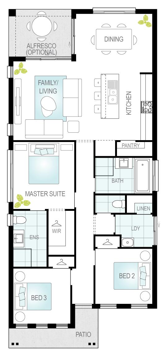 Lorenzo- Single Storey Floor Plan- McDonald Jones