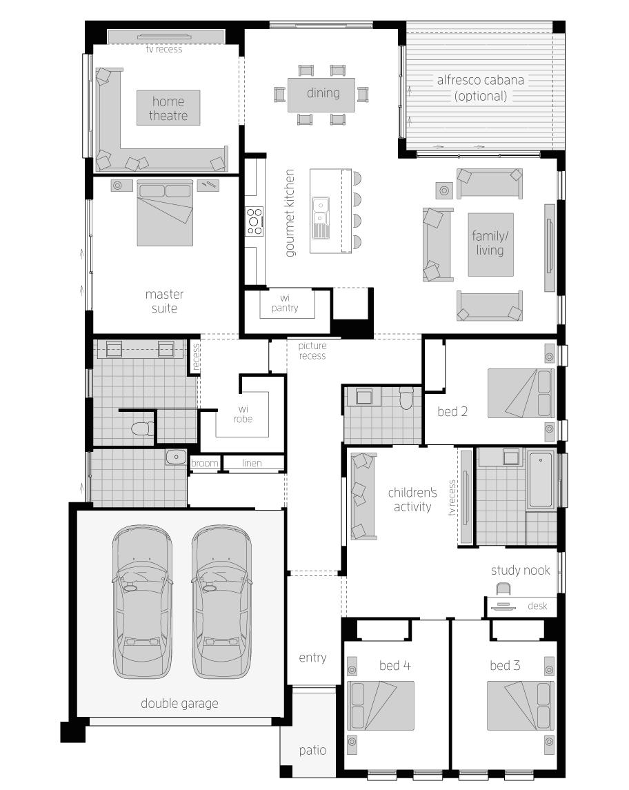 Floor Plan - Nobleman Home Design - Canberra - McDonald Jones