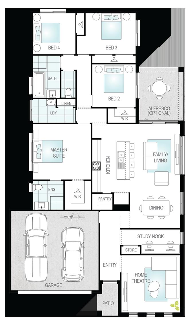 Prelude Floor Plan - Single Storey Floor Plan - McDonald Jones Homes