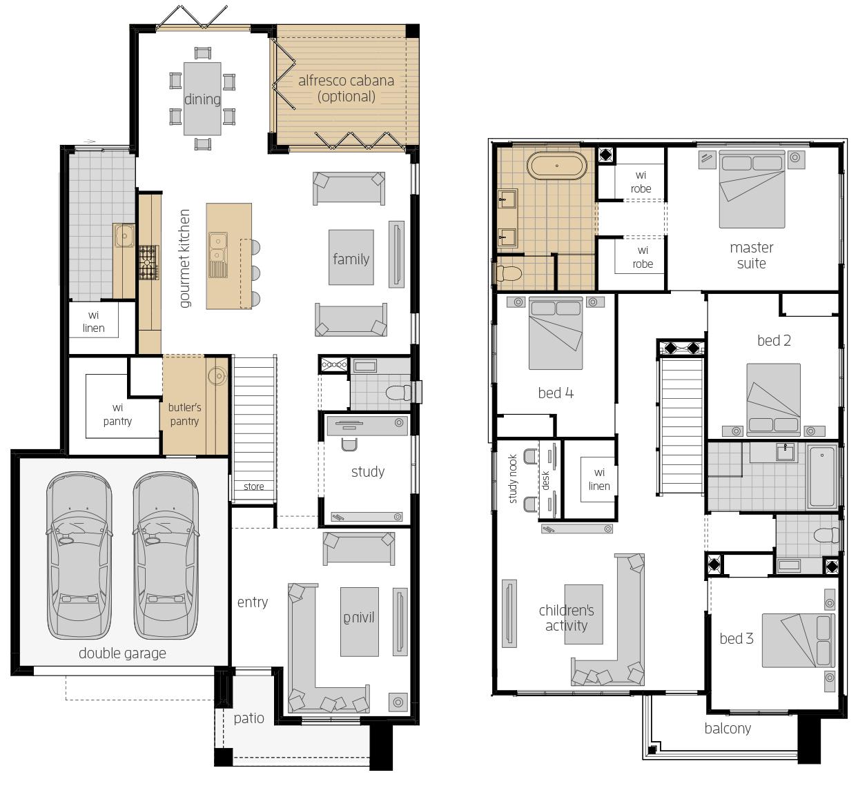 Saxonvale 33 Two- Two Storey Floor Plan Upgrade- McDonald Jones