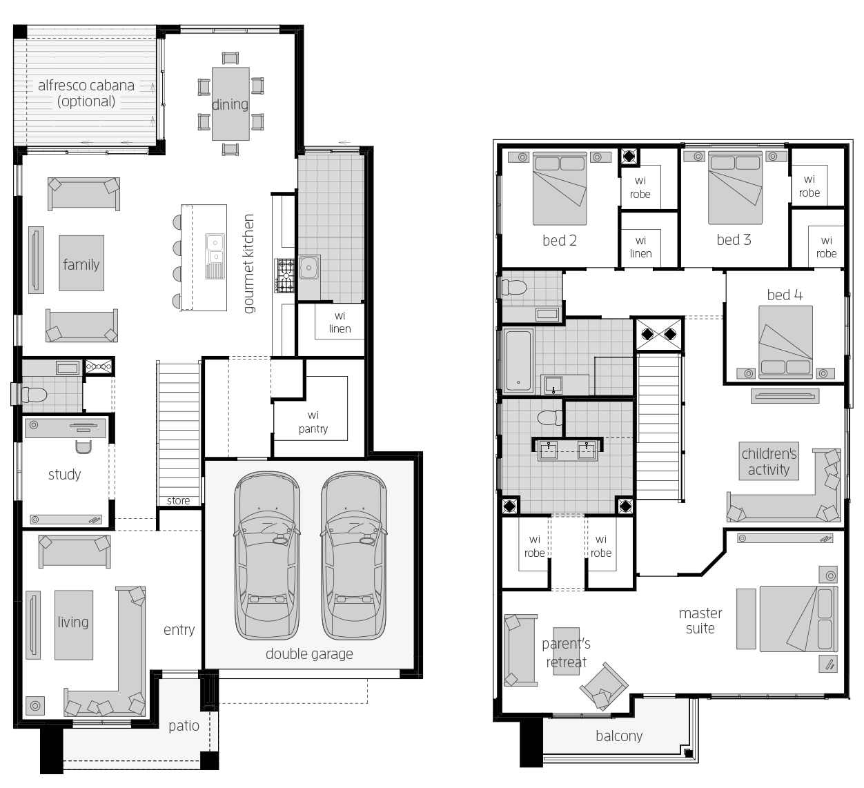 Saxonvale 33 One- Two Storey Floor Plan- McDonald Jones