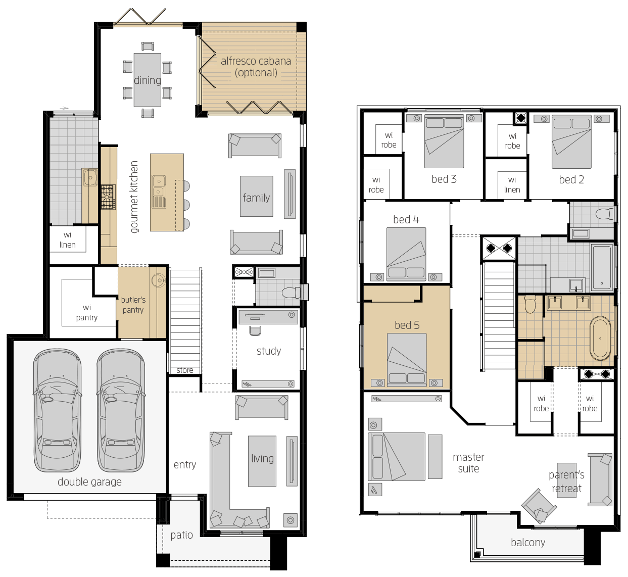 Saxonvale 33 One- Two Storey Floor Plan Upgrade- McDonald Jones