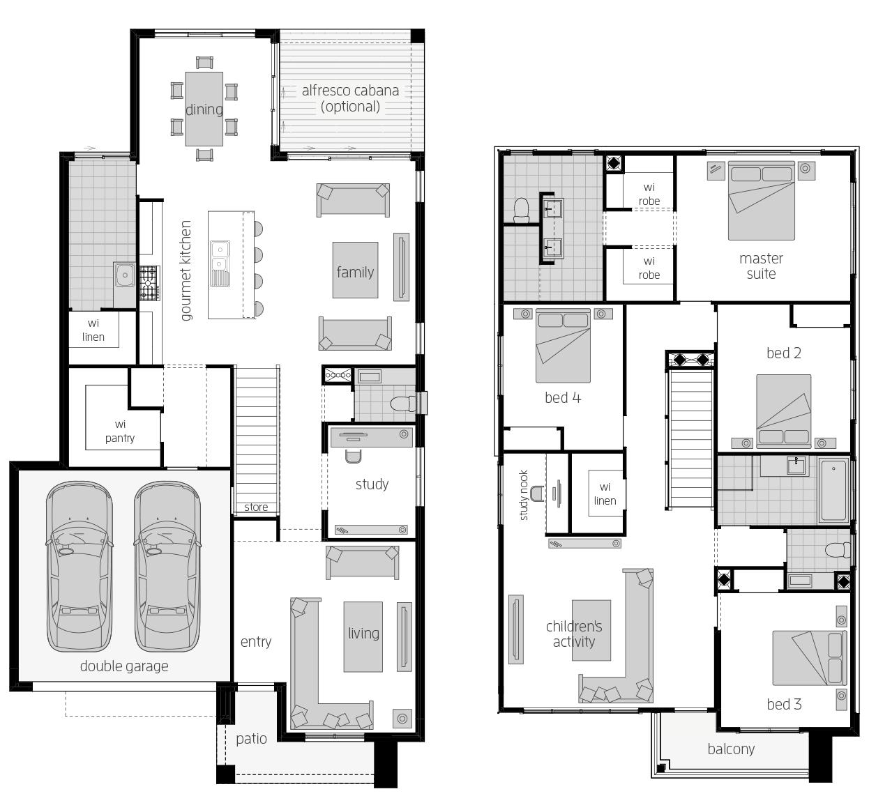 Saxonvale 33 Two- Two Storey Floor Plan- McDonald Jones