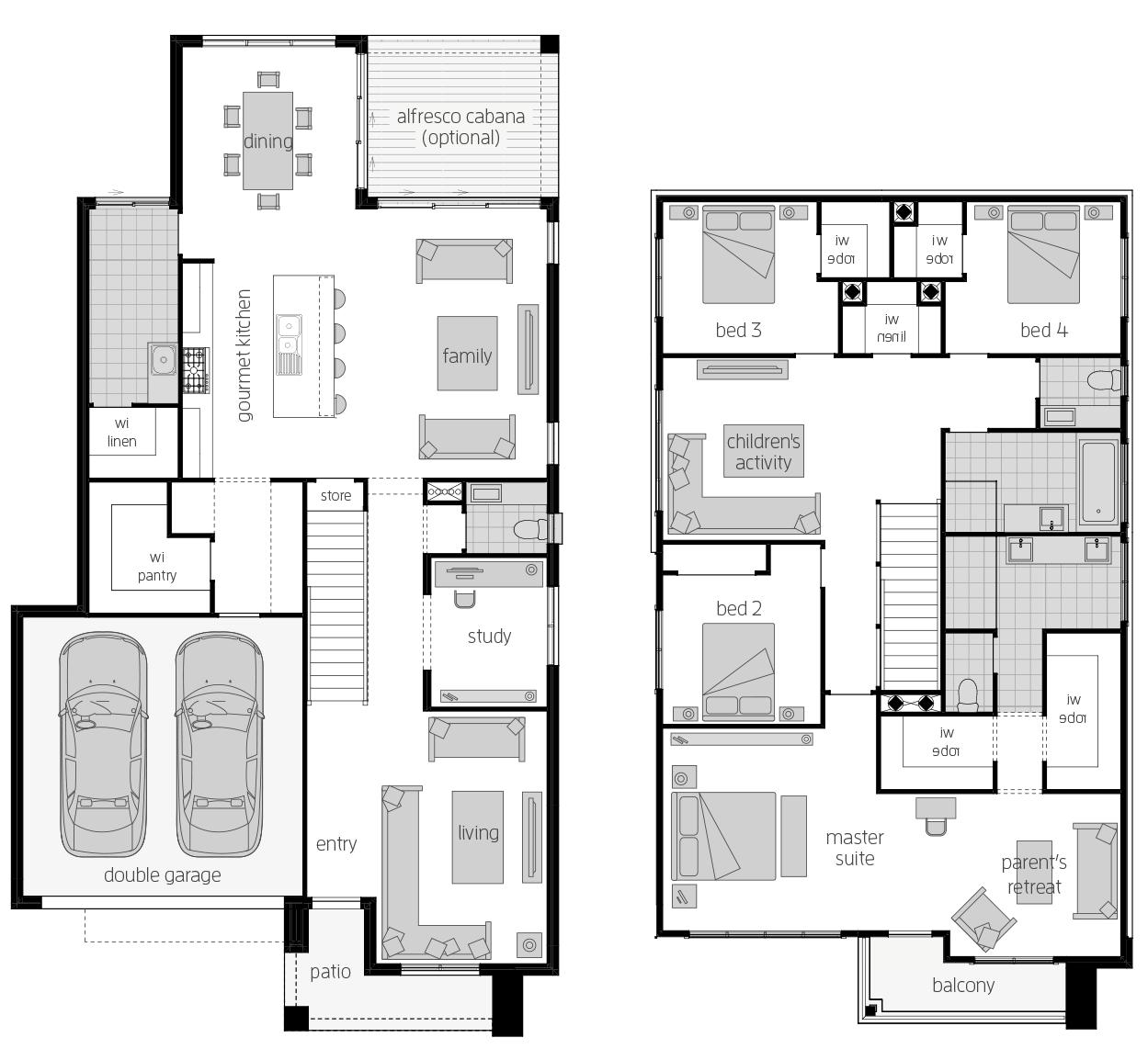 Saxonvale 33 Three- Two Storey Floor Plan- McDonald Jones