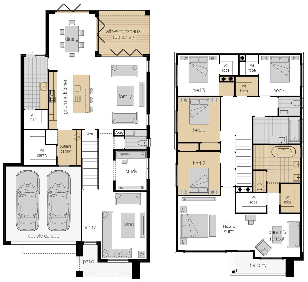 Saxonvale 33 Three- Two Storey Floor Plan Upgrade- McDonald Jones