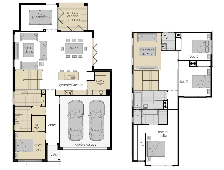 Sevilla 28- Two Storey Upgrade Floor Plan- McDonald Jones