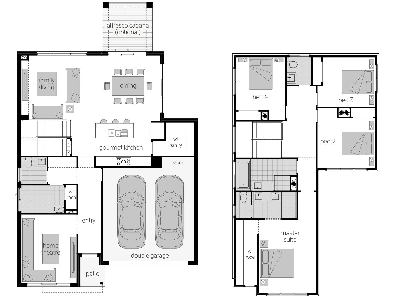 Sevilla 26- Two Storey Floor Plan- McDonald Jones