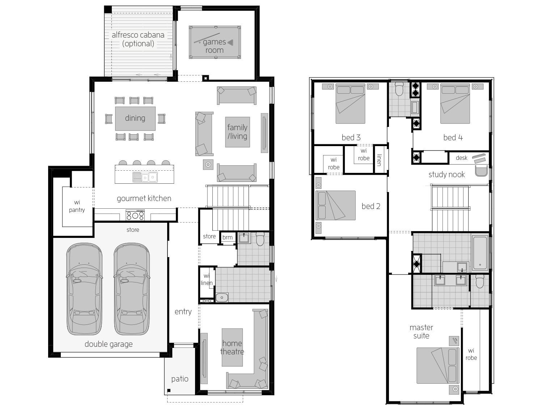 Sevilla 30- Two Storey Floor Plan- McDonald Jones