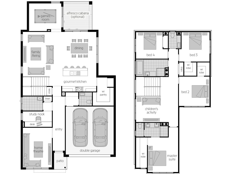 Sevilla 32- Two Storey Floor Plan- McDonald Jones