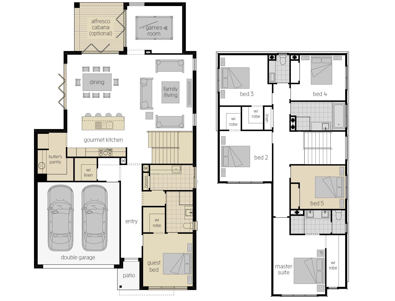Sevilla 32- Two Storey Upgrade Floor Plan- McDonald Jones