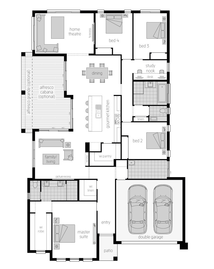 Floor Plan - Spring Vale - McDonald Jones