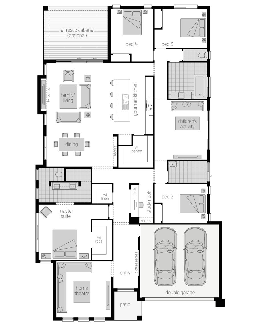 Floor Plan - Vanguard Home Design - Canberra - McDonald Jones