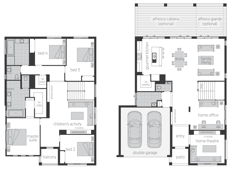 Floor Plan - Huntingdale - Two Storey Home - McDonald Jones