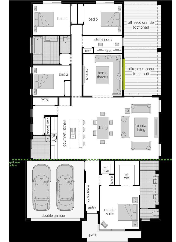 Broadbeach 15 floorplan lhs