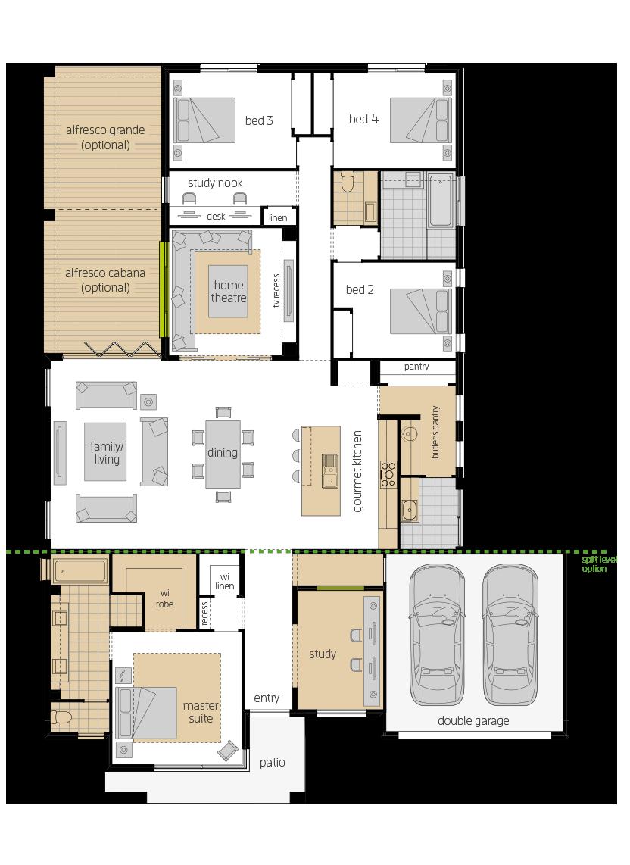 Broadbeach 16 upgrade floorplan lhs