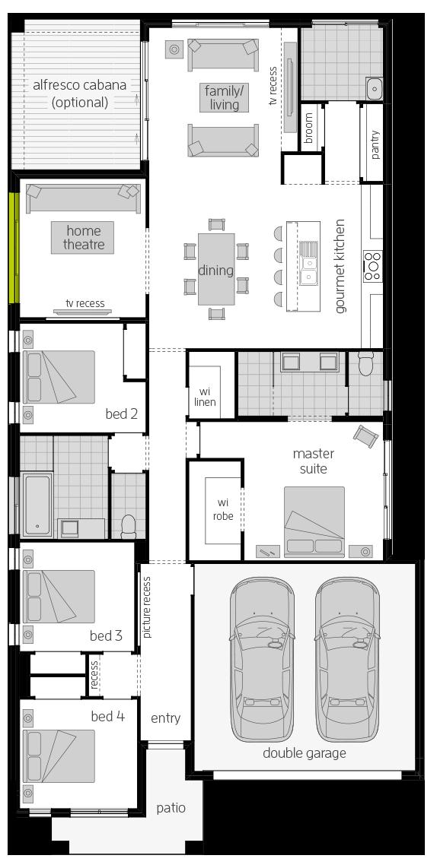 Santa Fe Zero floorplan lhs