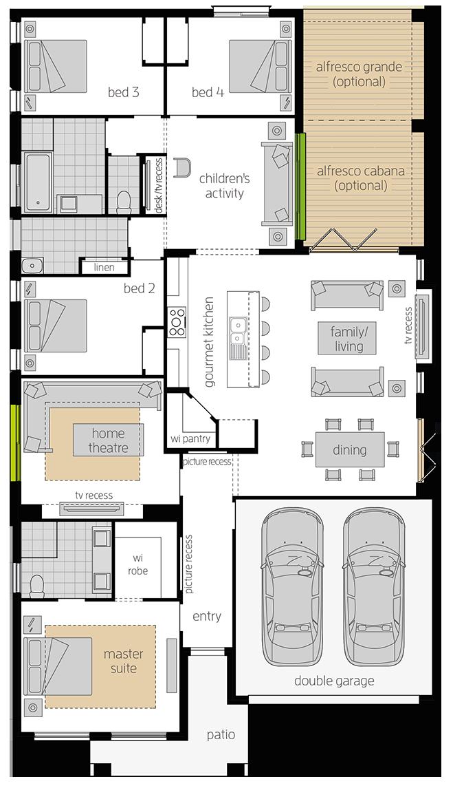 Havana 28 upgrade floorplan rhs