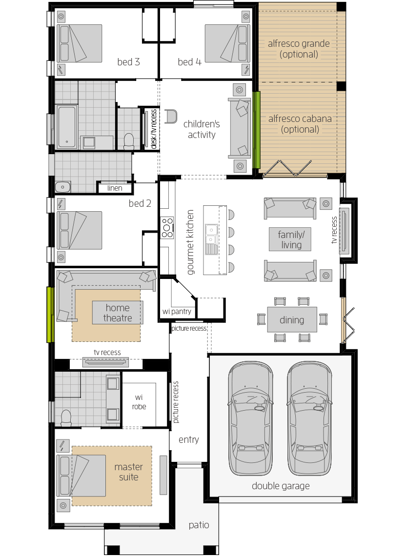 Havana 28 upgrade floorplan lhs