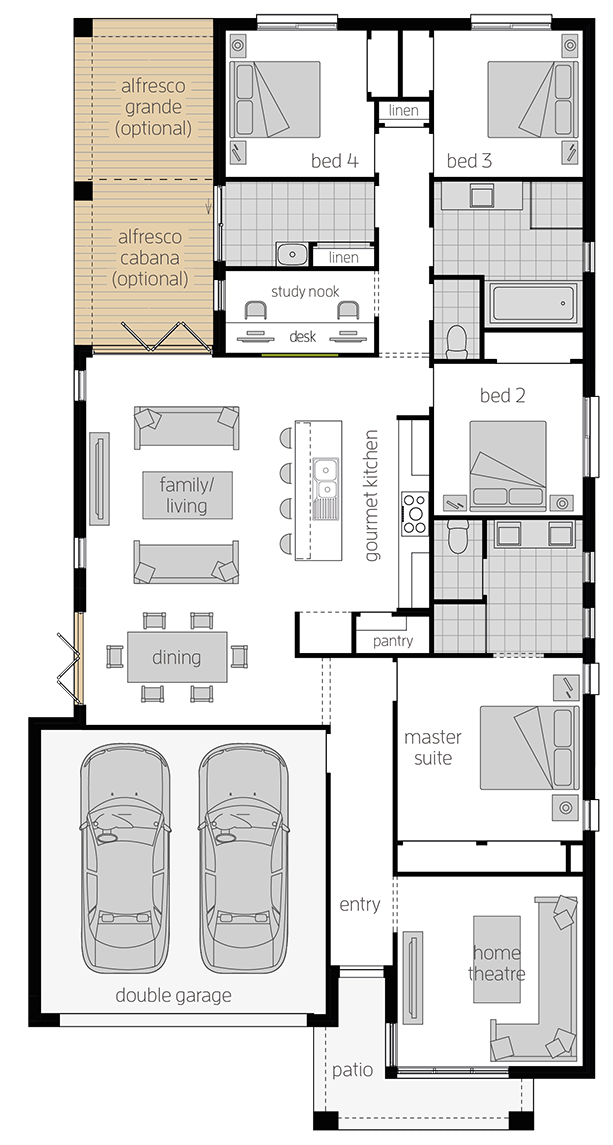 Havana 28 Zero upgrade floorplan lhs