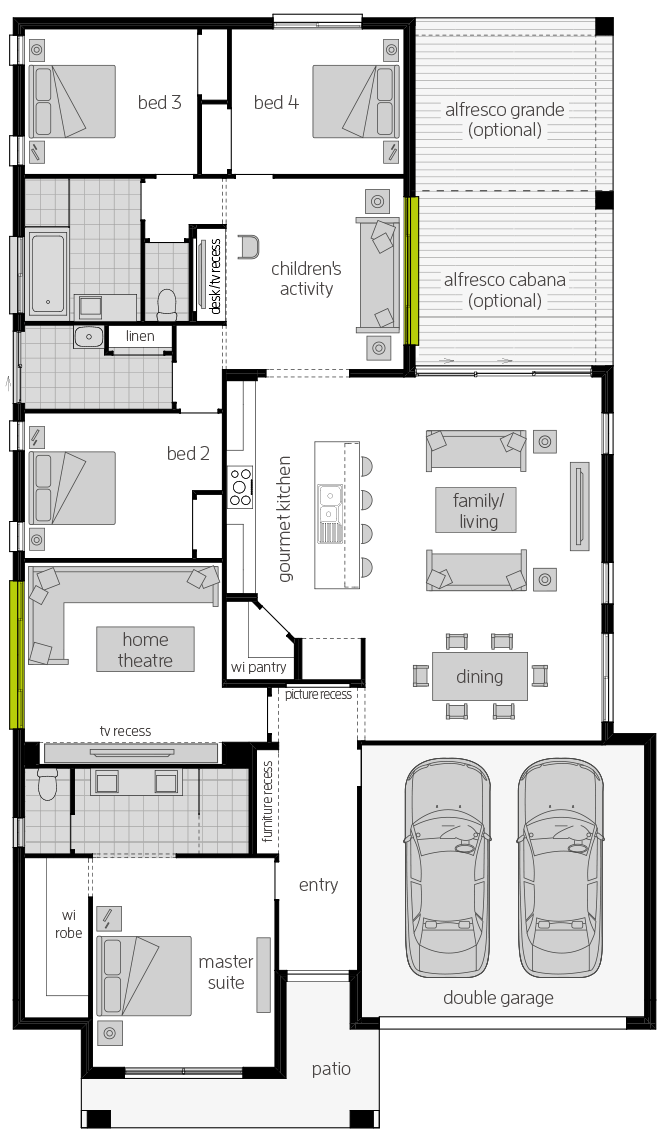 Havana Executive Zero floorplan lhs