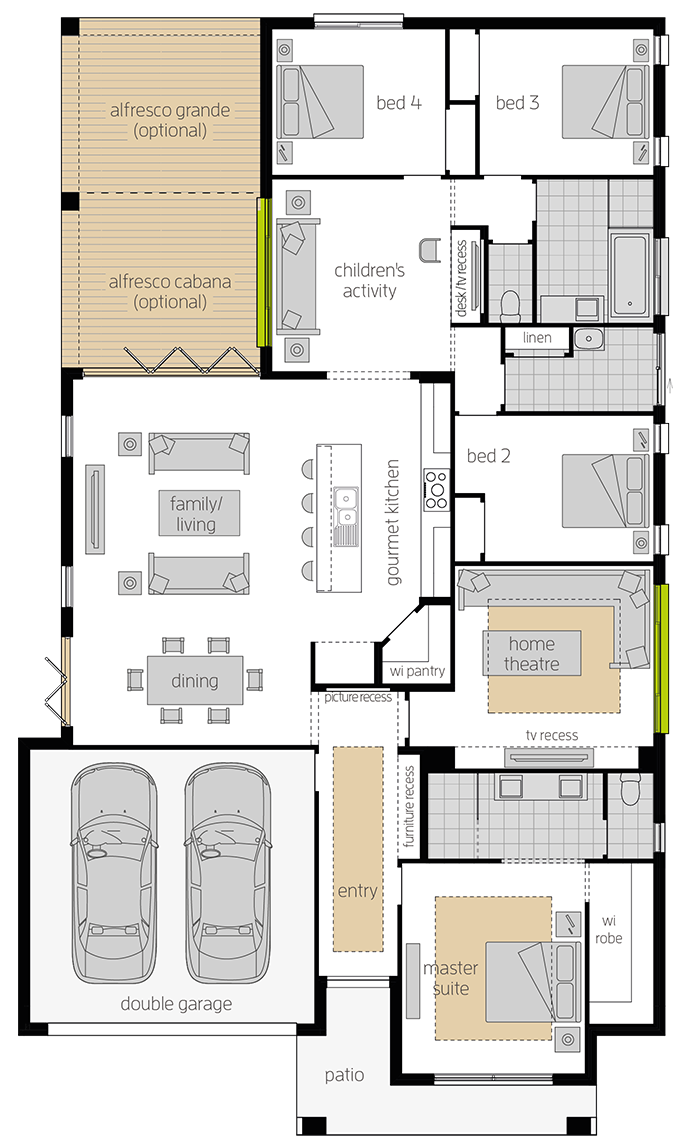 Havana Executive Zero upgrade floorplan lhs