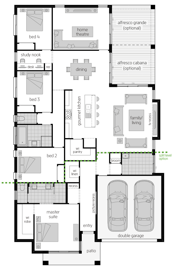 Portsea One floorplan lhs