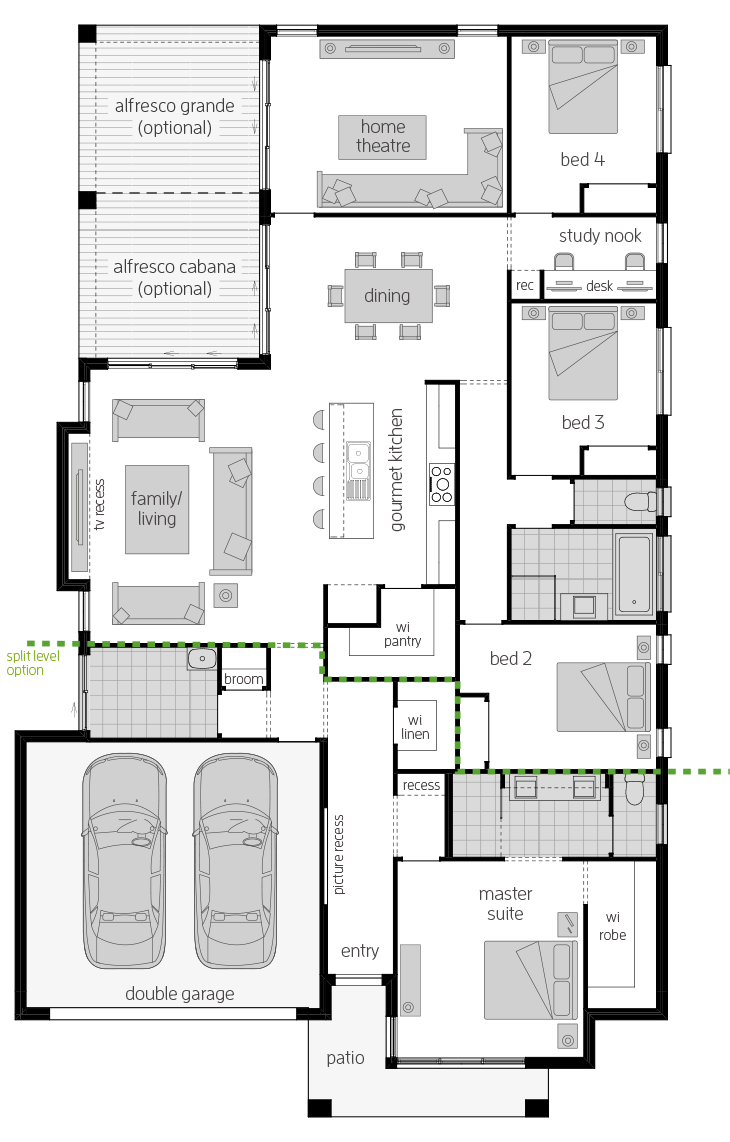 Portsea One Zero floorplan lhs