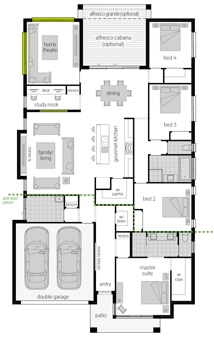 Portsea Two floorplan lhs