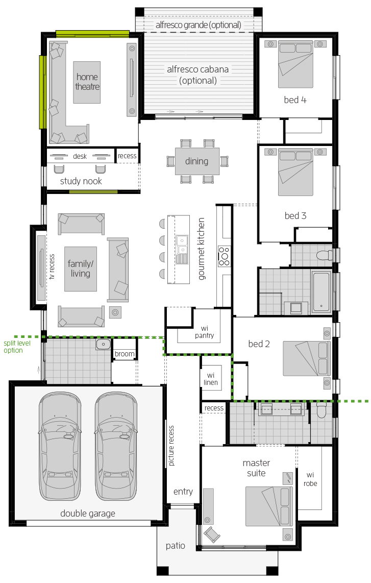 Portsea Two Zero floorplan lhs