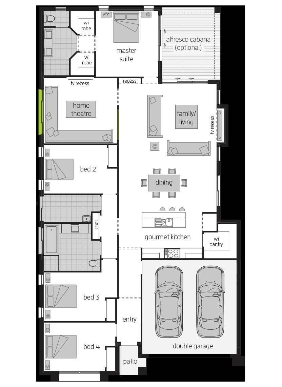 Bordeaux executive floorplan lhs