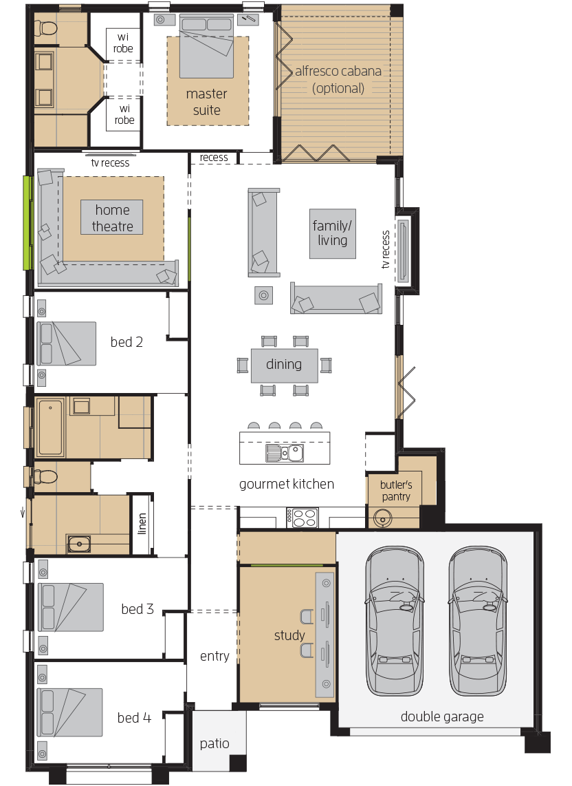 Bordeaux executive upgrade floorplan lhs