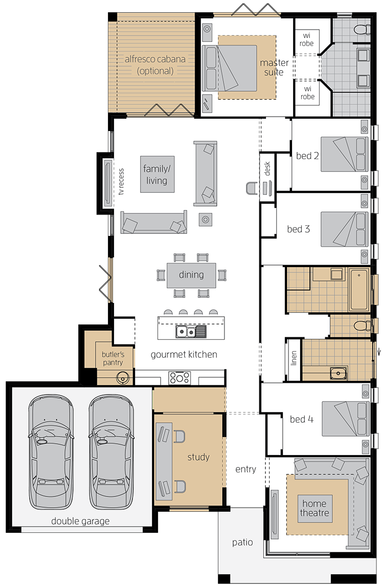 Bordeaux Urban upgrade floorplan lhs